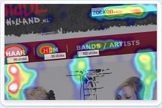 Mouseflow: meekijken met bezoekers op je website en opnames analyseren + heatmaps.