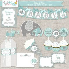 ♥ An elephant baby shower of soft baby blue & grey pastels with a loving mommy and baby elephant theme. An extensive 36 page collection of Baby Shower Songs, Fiesta Baby Shower, Baby Shower Games, Baby Shower Parties, Baby Boy Shower, Elephant Party, Elephant Theme, Elephant Baby Showers, Invitation Fete