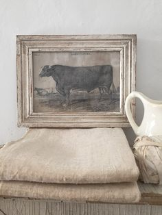 Vintage Style Cow Print
