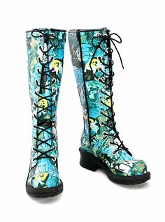 Hot Topic boots | ... boots sku 339617 $ 49 99 $ 24 98 graffiti print pole climber boots is