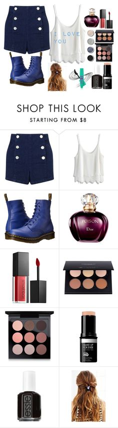 """Untitled #334"" by queenalisa on Polyvore featuring Miss Selfridge, Chicwish, Dr. Martens, Smashbox, Terre Mère, MAC Cosmetics, Essie and Urban Outfitters"