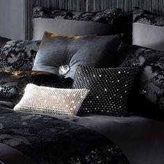 Kylie Minogue at Home Valaza Black Sequin Animal Panel Duvet Quilt Cover Bedding | eBay