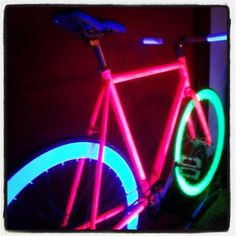 Glow in the dark bikes! BeatnecksBikes