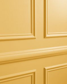 Lemonade is a refreshing lively yellow semi-gloss paint color inspired by the favorite summer drink. Exterior Paint Colors, Painting Trim, Yellow Paint Colors, Paint Colors, Gold Paint Colors, Wall Paint Colors, Golden Paint Color, Black Interior Doors, Yellow Front Doors