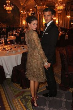 Newly Engaged Olivia Palermo and Johannes Huebl's Most Attractive Couple-y Moments: Just holding hands in a ballroom, looking great.