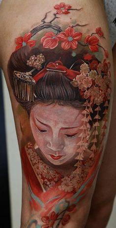 Geisha Tattoo - 50+ Beautiful Geisha Tattoos
