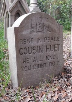picture prompt: write cousin huet's story, what didn't he do?