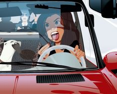 A LEO woman tends to drive like she's the only one on the street! LOL! ( art by Arthur de Pins)