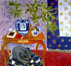 Interior with a Dog (also known as The Magnolia Branch) / Henri Matisse - 1934
