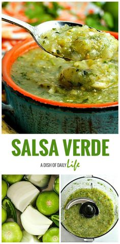 Healthy Recipes : Illustration Description Authentic Salsa Verde…easy to make & so much better than the jarred stuff. Great with chips, or as a topping for enchiladas or burritos! Mexican Dishes, Mexican Food Recipes, Ethnic Recipes, Mexican Meals, Sauce Recipes, Cooking Recipes, Healthy Recipes, Dip Recipes, Delicious Recipes