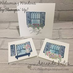 The Craft Spa - Stampin' Up! UK independent demonstrator - Order Stampin Up in UK: Simple Saturday - Welcoming Windows #8 & Round Up On October 3rd, January, Shutter Images, Swing Card, Window Cards, Easel Cards, Windows 8, Blank Cards, Homemade Cards
