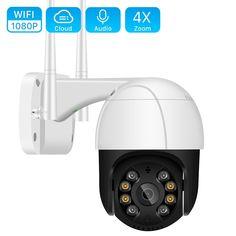 1080P PTZ Wifi IP Camera Outdoor 4X Digital Zoom  Price: 38.80 & FREE Shipping  #allgadgetdealz Ptz Camera, Audio, Cctv Surveillance, Wireless Camera, Card Storage, Storage Design, Security Camera, Night Vision, Outdoor
