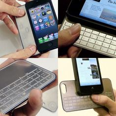 Magnetic iPhone 5 Game Controller & Keyboard: a hybrid solution for iPhone gamers and office users in the works. #innovation #mobile