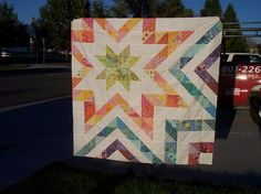 Anna M, Around the Quilt Block, half-square triangle quilt from her flickr http://www.flickr.com/photos/aroundthequiltblock/7926404356/