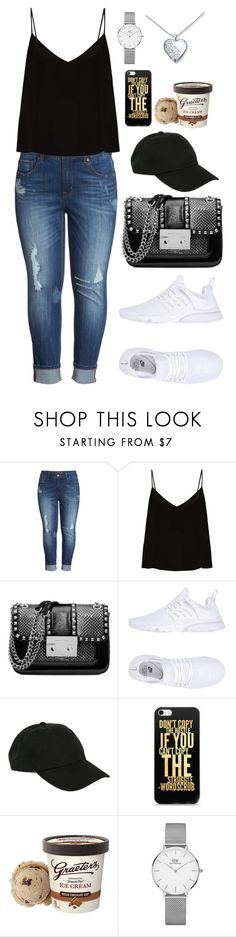 """""""Untitled #569"""" by alibasicamina on Polyvore featuring Melissa McCarthy Seven7, Raey, Michael Kors, NIKE, Hot Topic and Daniel Wellington"""