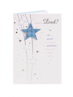 Tartan Star Fathers Day Card - For Dad | Clintons