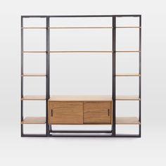 Ladder Shelf Media Console + Shelves Set - Narrow #westelm