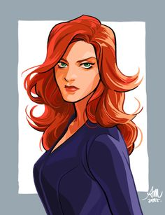 """temariart: """" I've been so busy with work but Nat looks great in her new hairstyle I just have to draw it. Avengers Black Widow, Marvel Avengers, Gina Weasley, Character Art, Character Design, Mara Jade, Natalia Romanova, Black Widow Natasha, Marvel Fan Art"""