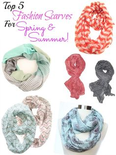 Top 5 Spring Fashion Scarves for Women! Perfect accessories for your Easter Outfit!