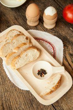 #Hand made wooden tray with #Eggcups/Tacka rzeźbiona z kieliszkami na jajka