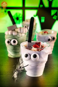 #Halloween #Kuchen #Mumie #Deko #Party #Dessert #Idee #mummy