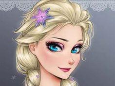 Princesas+Disney+em+estilo+Anime