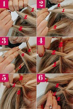 Aprenda fazer Trança Cascata passo a passo Braided Hairstyles Tutorials, Easy Hairstyles, Girl Hairstyles, Hair Tutorials, Braids Step By Step, Braiding Your Own Hair, Hair Upstyles, How To Make Hair, How To Braid Hair