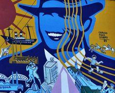Mural homenaje a Buenos Aires, Av. Figueroa Alcorta y Tagle, Barrio Parque, Buenos Aires, Argentina En el año 1989, Carlos Páez Vilaró pintó un mural homenaje a la ciudad de Buenos Aires que hoy aún sigue allí. En el centro muestra al maestro Carlos Gardel, lo rodean imágenes típicas de la ciudad.