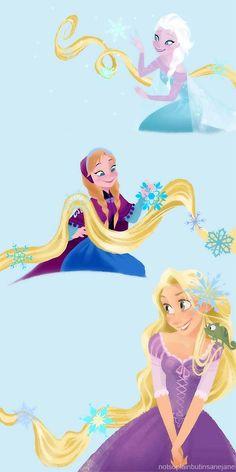 Les créateurs de Frozen ont confirmé que la mère d'Elsa et d'Anna et celle de Raiponce sont sœur, ce qui rend Raiponce la cousine d'Elsa et Anna.