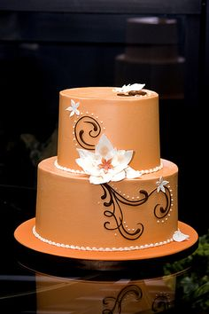 engagement cake simple and elegant!