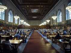 New York Public Library Reading roon- one of the grandest public spaces in the world.