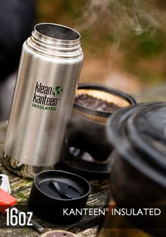 Kleen Kanteen insulated drinking bottle. No nasty chemicals--just durable, safe stainless steel. The vacuum insulation works very well.