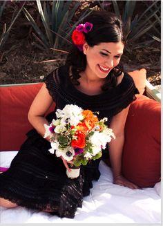 mexican black wedding dress