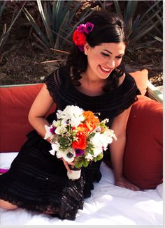 mexican black wedding dress