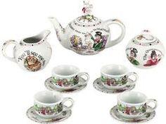 Alicia en el país de las maravillas juego de té en miniatura - Alicia en el país de las maravillas - Rosas y tazas de té