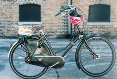 The #bike with #books of my dreams. (Yeah, I know, I wouldn't subject books to potential wind/weather damage in real life either, but it makes such a poetic image, so I'm glad Dottie took this pic anyway :) )