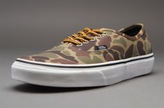 8cb4b21711 Vans Authentic - Mens Select Footwear - (Waxed Canvas) Camo-Marshmallow Camo  Designs