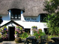 enchantedengland:       Cott Inn, Dartington, south Devon.  Believed to be the oldest pub in England (there are several that make this claim) the Cott Inn has held a continuous licence since 1320. According to the photographer, who frequents the place, it's an excellent pub with quite good food. (meheal badem flickr)