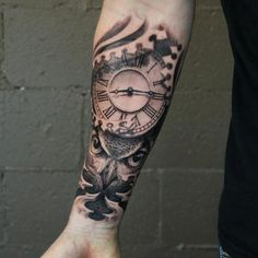 Clock tattoos clock and tattoos and body art on pinterest