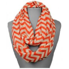 Clemson Tigers Chevron Infinity Scarf, get it at TotallyCollegiate.com!