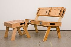 Crate Chairs: Upcycled storage crates by Autumn Workshop on upcycleDZINE