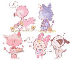 Animal Crossing art. So cute. o u o