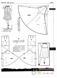 Sewing skirt tips Dress Sewing Patterns, Sewing Patterns Free, Clothing Patterns, Shirt Patterns, Pattern Sewing, Pants Pattern, Diy Clothing, Sewing Clothes, Doll Clothes