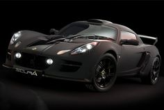 Lotus Exige Scura - Black Threat Scura is Italian for dark. Supercharged 1.8L engine producing 257 horsepower and 174 lb-ft of torque, for a sublime four second sprint.
