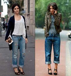 Boyfriend jeans trend street style