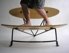Surfboard chair... to go with our snowboard bench!