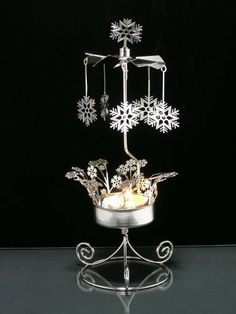 Creative Iron Tea Light Candle Holders Decoration with Angel Wind Chime Pendant for Christmas Home Wedding Party Decoration wang JESS Rotating Candle Holder
