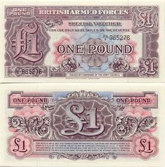 Great Britain 1 Pound (1948)    British Armed Forces - Special Vouchers.