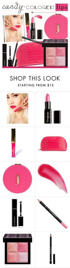 """""""So Sweet: Candy-Colored Lips"""" by rasa-j ❤ liked on Polyvore featuring beauty, LASplash, Gorgeous Cosmetics, Smythson, Miss Selfridge, Charlotte Tilbury, Givenchy, beautyset, candylips and summer2016"""