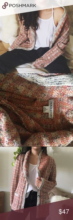 """PENDLETON/ cardi PENDLETON/ cardi  ⱝ chunky and super cozy ⱝ cotton and silk blend ⱝ pockets do not open, they're basically just for looksies  ⱝ amazing condition   ☠️ SOME CLOSET INFO ☠️  » see my """"about this closet"""" listing for my size info » offers are encouraged - I rarely lower my prices » bundle discounts depend on the items - just make a bundle offer on the items you're interested in Pendleton Sweaters"""
